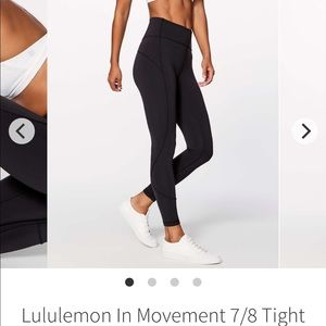 Lululemon in movement 7/8 tight